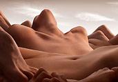 裸模身体变成创意风景