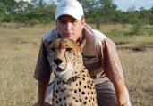 男子收养孤儿凶猛猎豹